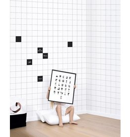 Lilipinso Wall Paper 'Black & white' - Maxi Tiles