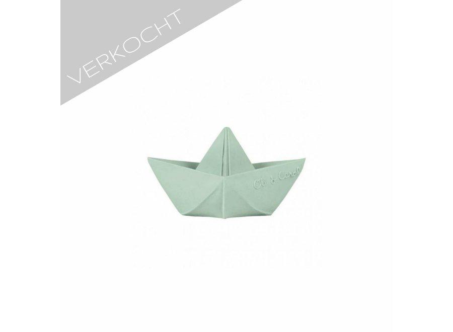 Geboortelijst - Origami Bootje Mint