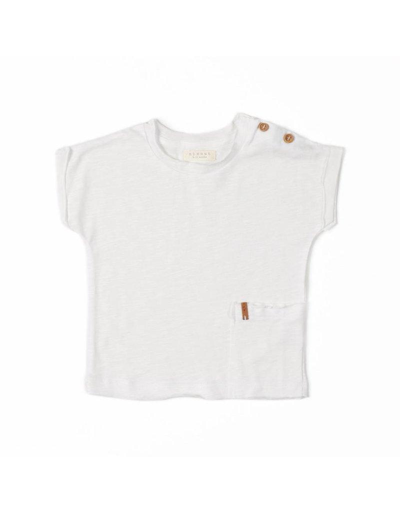 Nixnut Nixnut - T-shirt 'Off white'