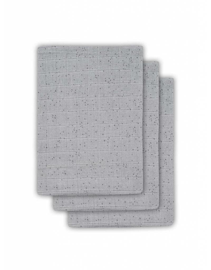 Geboortelijst - Jollein - Washandjes 'Mini dots grey'