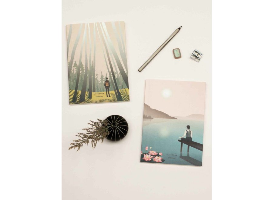 Vissevasse - Notebook Set 'Lotus & Into the woods'