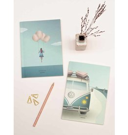 Vissevasse Vissevasse - Notebook Set 'Camper & Balloon dream'