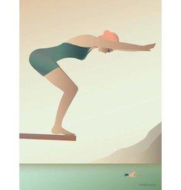 Vissevasse Vissevasse - Poster 'Swømmeren'