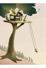 Vissevasse Vissevasse - Poster 'Treehouse'