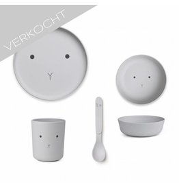 Liewood - Bamboo Set 'Rabbit Grey'
