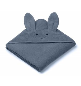 Liewood Liewood - Albert Hooded Towel -  'Rabbit Blue Wave'