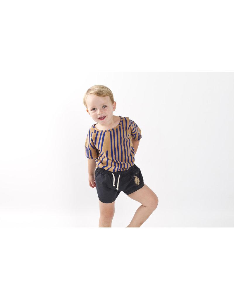 Lötiekids Lötiekids - T-shirt SS 'Stripes' - Camel