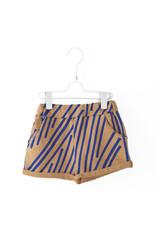 Lötiekids Lötiekids - Oversized Short 'Stripes' - Camel