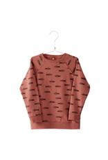 Lötiekids Lötiekids - Sweater 'Fishes' - Washed red