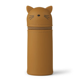 Liewood Liewood - Vitus Pencil Case 'Cat Mosterd'