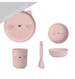 Liewood - Bamboo Set 'Cat Pink'