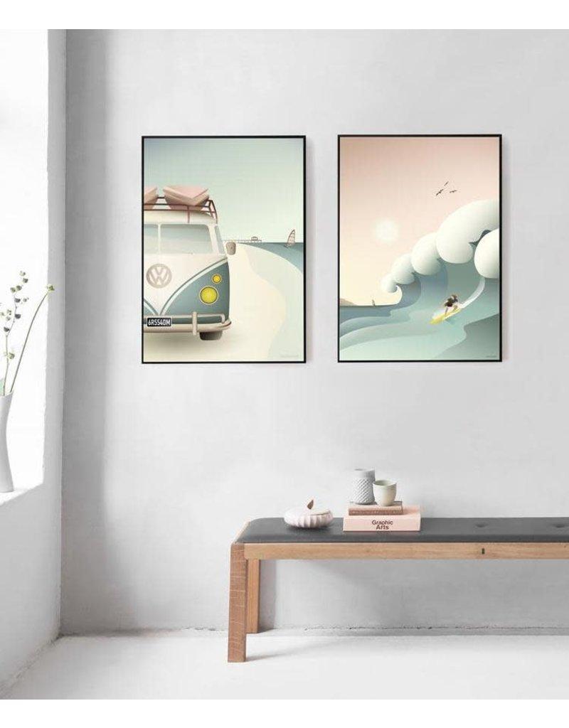 Vissevasse Vissevasse - Poster 'Surfer'