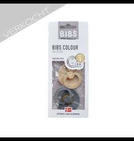 BIBS - Fopspeen Blister 'Iron & Beige' T1