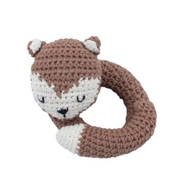 Sebra Sebra - Crochet Rattle 'Sparky the fox'
