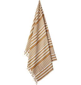 Liewood Liewood - Monroe Beach towel - Stripe 'Mustard'