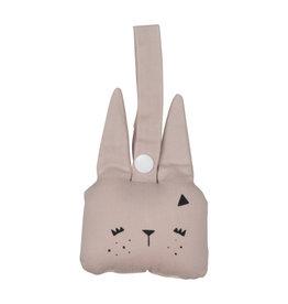 Fabelab Fabelab - Animal Rattle Bunny 'Mauve'