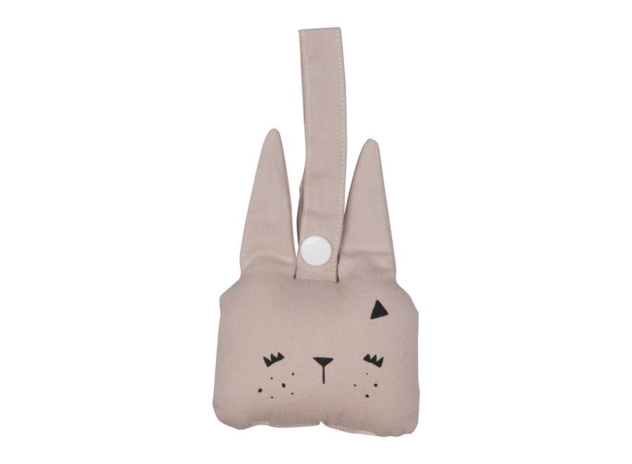Fabelab - Animal Rattle Bunny 'Mauve'