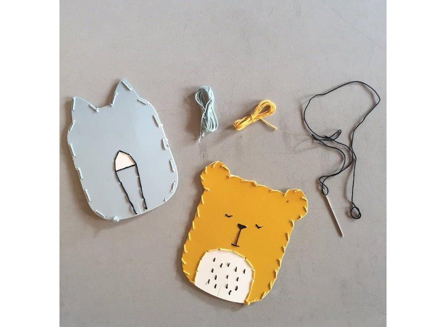 Fabelab - Animal Embroidery Kit - Bear