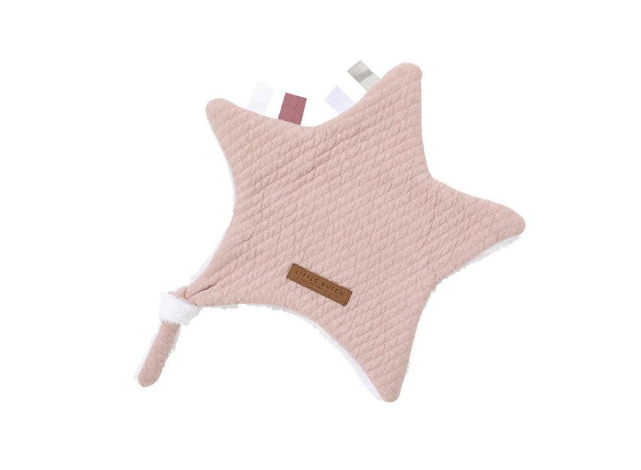 Little Dutch - Knuffeldoekje Ster Pink