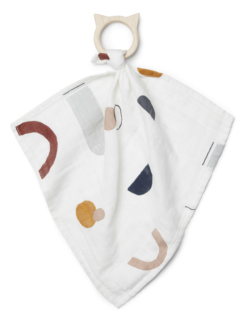 Geboortelijst -  Liewood - Dines Teether Cuddle 'Abstract' - Off white