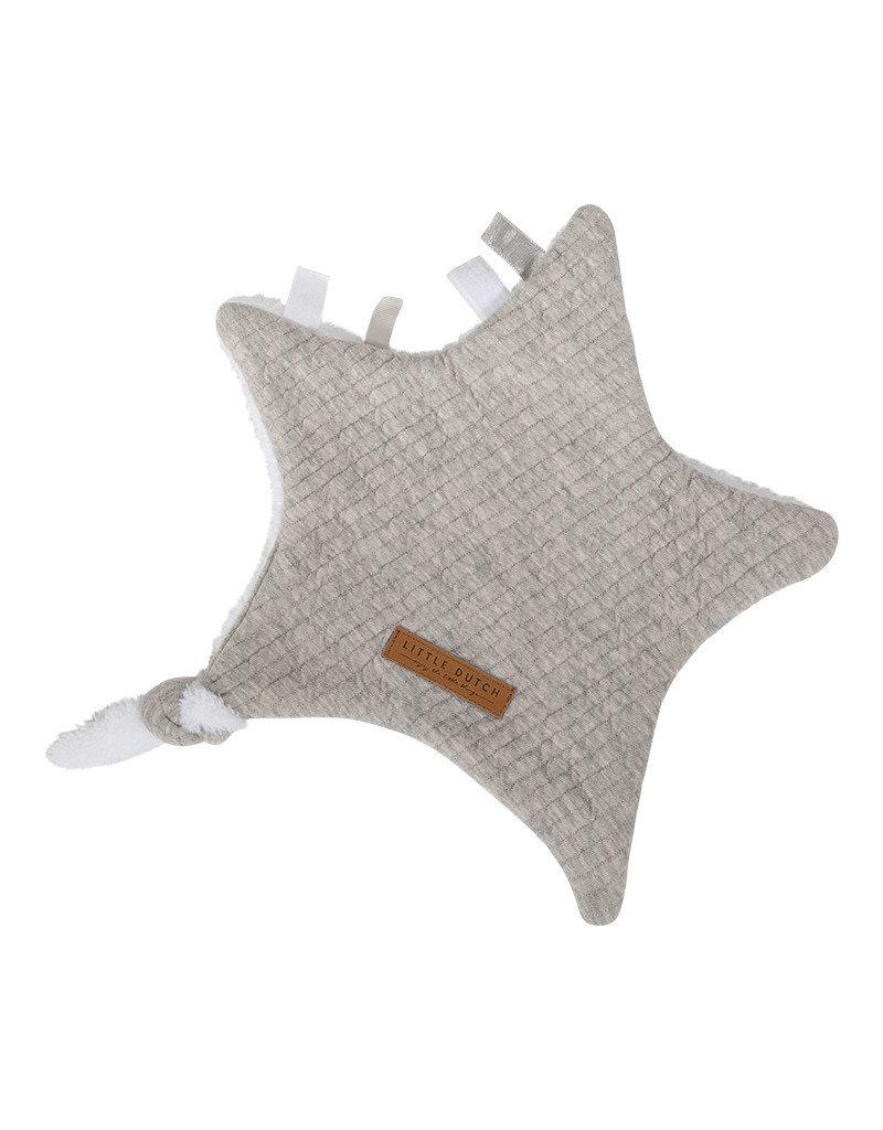 Geboortelijst - Little Dutch - Knuffeldoekje Ster Grey