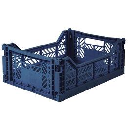 Lillemor - Folding Crate 'Navy' - Medium