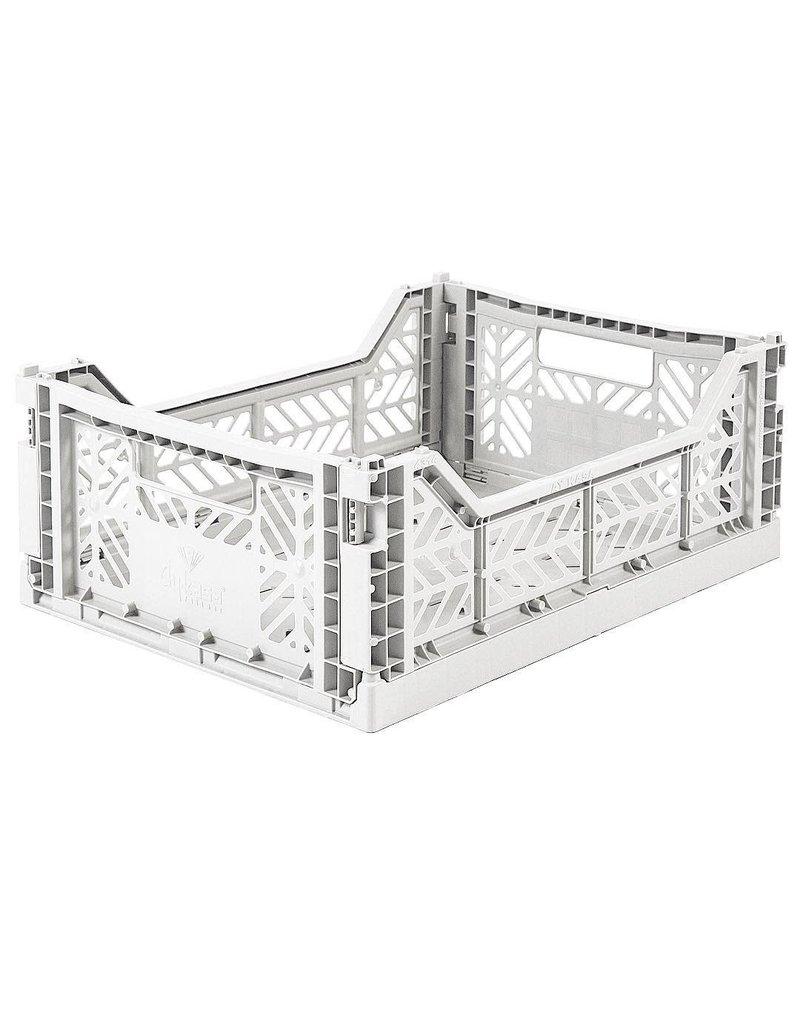 Geboortelijst - Lillemor - Folding Crate 'Light Grey' - Medium