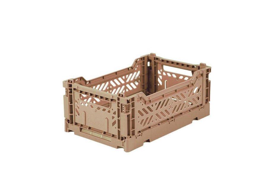 Lillemor - Folding Crate 'Taupe' - Mini