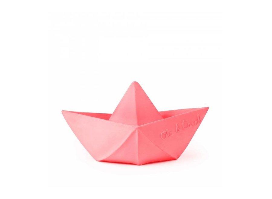 Oli & Carol - Bad speeltje Bootje Origami 'Pink'