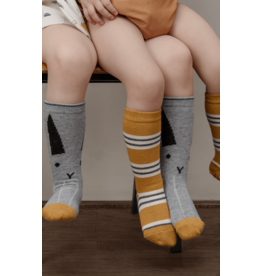 Liewood Liewood - Sofia Knee Socks 'Rabbit/Stripe Mustard' (set van 2)