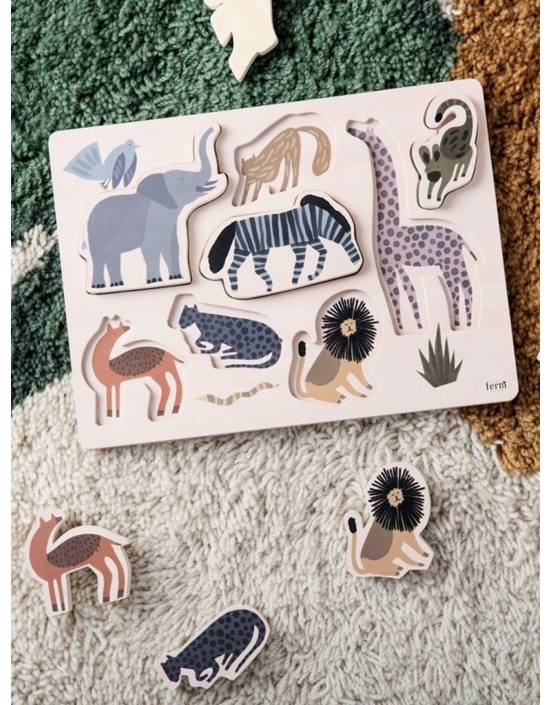 Ferm Living Ferm Living - Safari inlegpuzzel