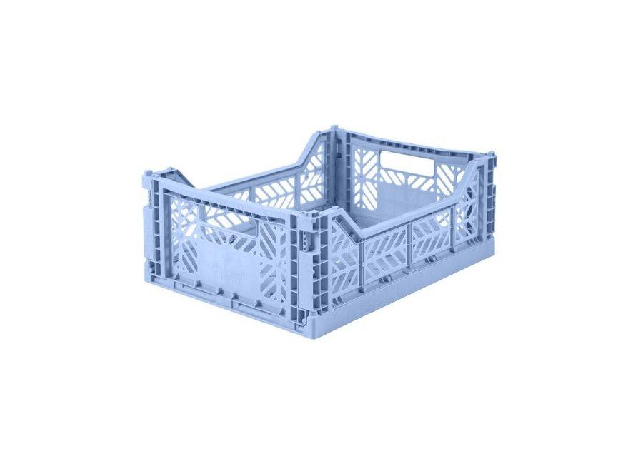 Lillemor - Folding Crate 'Baby Blue' - Medium