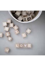 Geboortelijst - Ooh Noo Alfabetblokken 'White'
