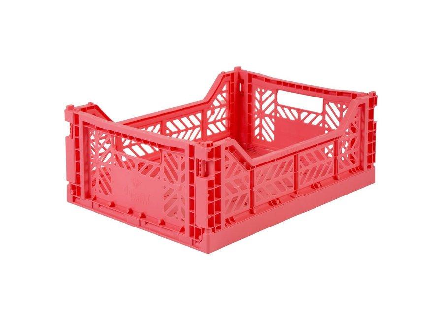 Lillemor - Folding Crate 'Dark Pink' - Medium