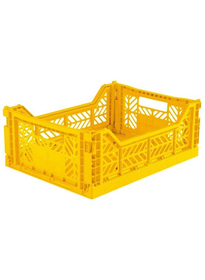 Lillemor - Folding Crate 'Yellow' - Medium