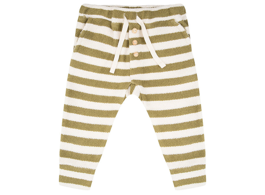 Little Indians - Pants Olive Stripe