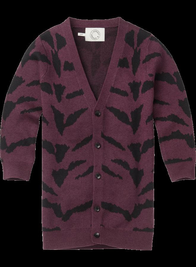 Sproet & Sprout - Cardigan Tiger Intarsia