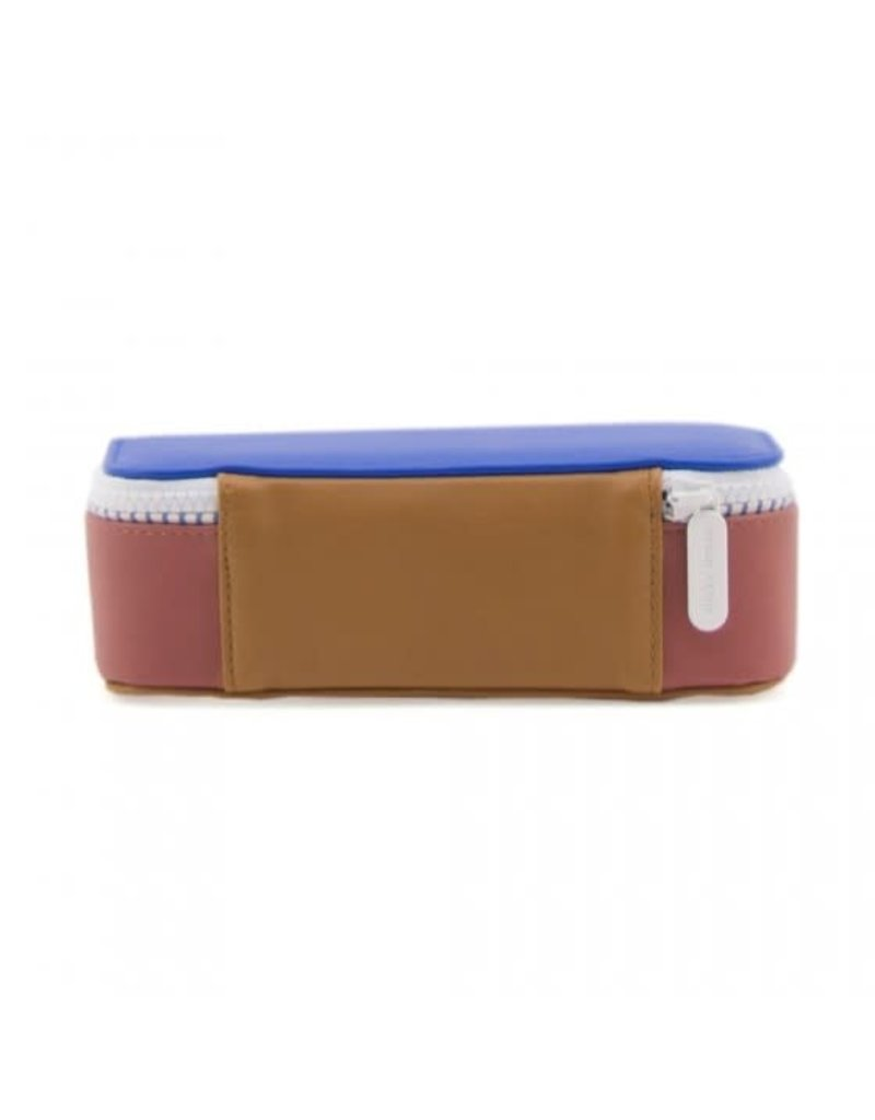 Sticky lemon Sticky Lemon - Pencil Case Deluxe 'Brick - Blue - Sugar brown'