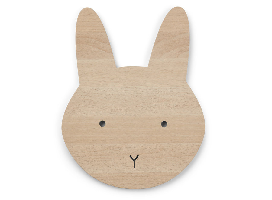 Liewood - Troy Wooden Lamp 'Rabbit Natural'