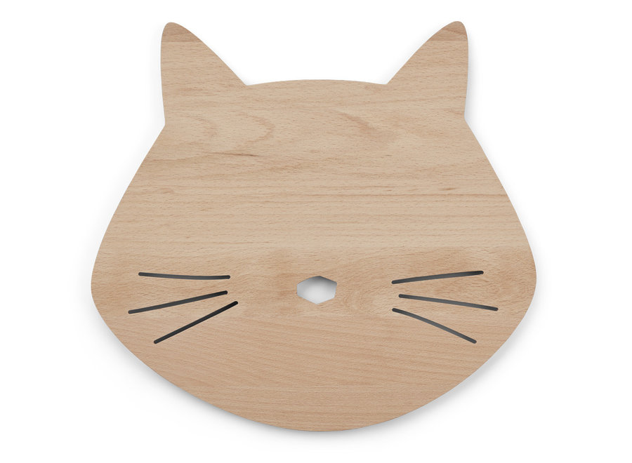 Liewood - Troy Wooden Lamp 'Cat Natural'