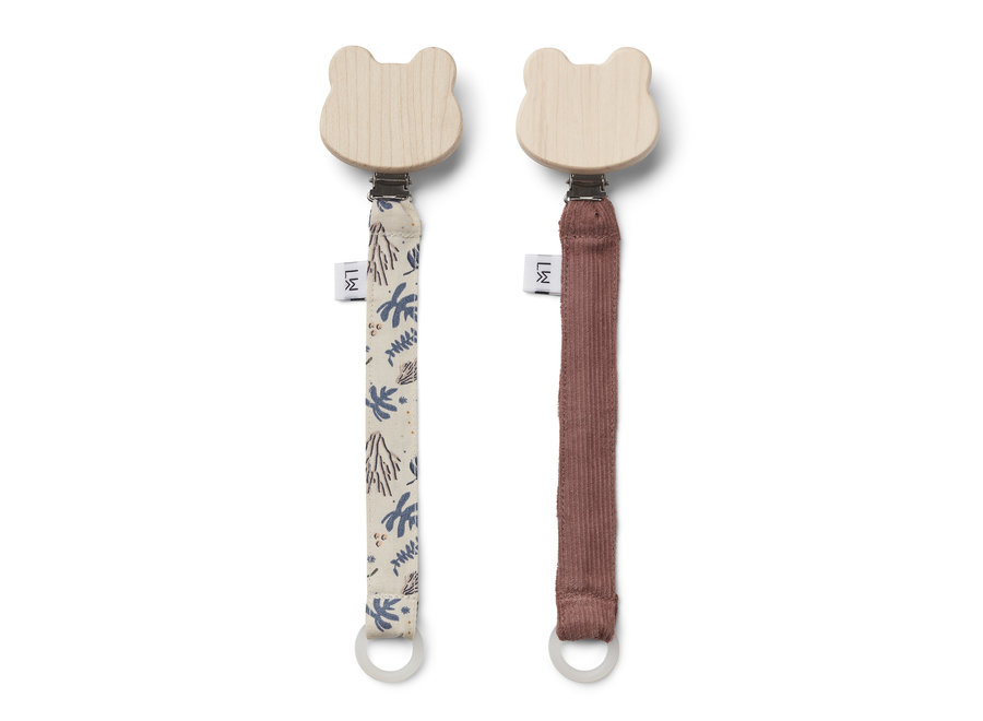 Liewood - Barry Pacifier Strap (2 pack)  - Coral Floral