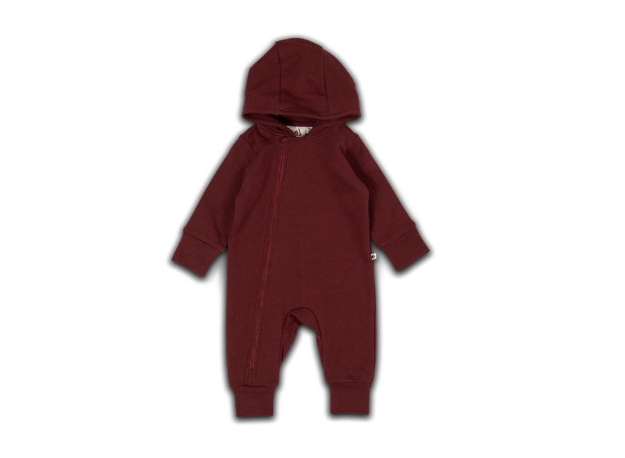 Cos I Said So - Hooded Playsuit - Zinfandel