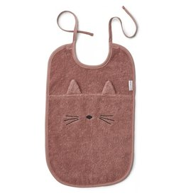 Liewood Liewood - Theo Terry Bib  'Cat Dark Rose'