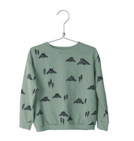 Lötiekids Lötiekids - Sweatshirt Cottages - Dark Mint