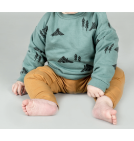 Lötiekids Lötiekids - Baby Sweatshirt Cottages - Dark Mint