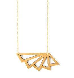 Ella Marie Ella Marie - Halsketting Geometrisch - Goud