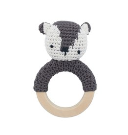 Sebra Sebra - Crochet Rattle 'Milo on ring'