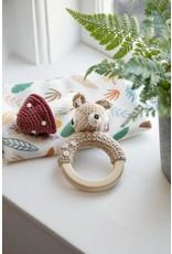 Sebra Sebra - Crochet Rattle 'Deer on ring'