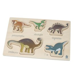 Sebra Sebra - Wooden Chunky Puzzle 'Dino'