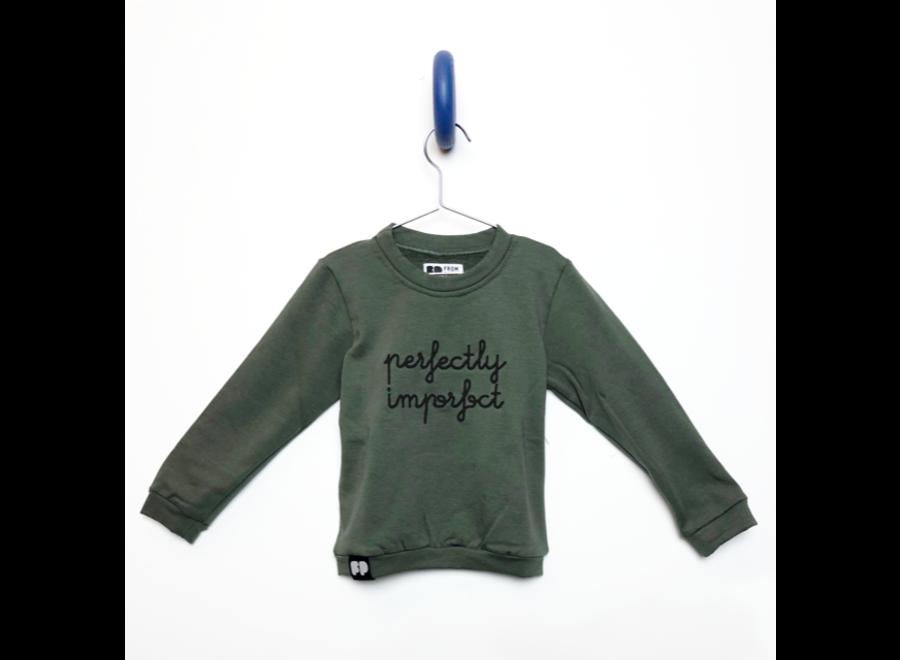From Paris - Sweatshirt Perfect Imperfection - Khaki